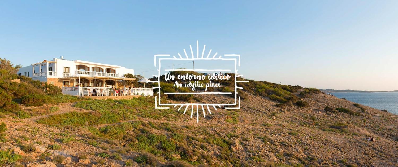 Magic sunset place in Ibiza