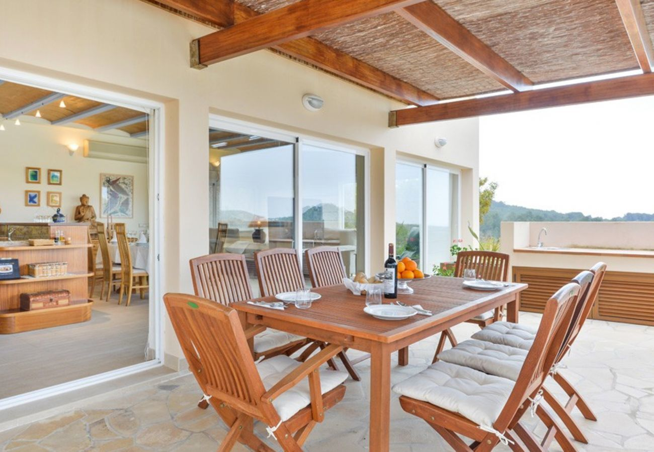 Terrace area with views at Villa Can Verdera