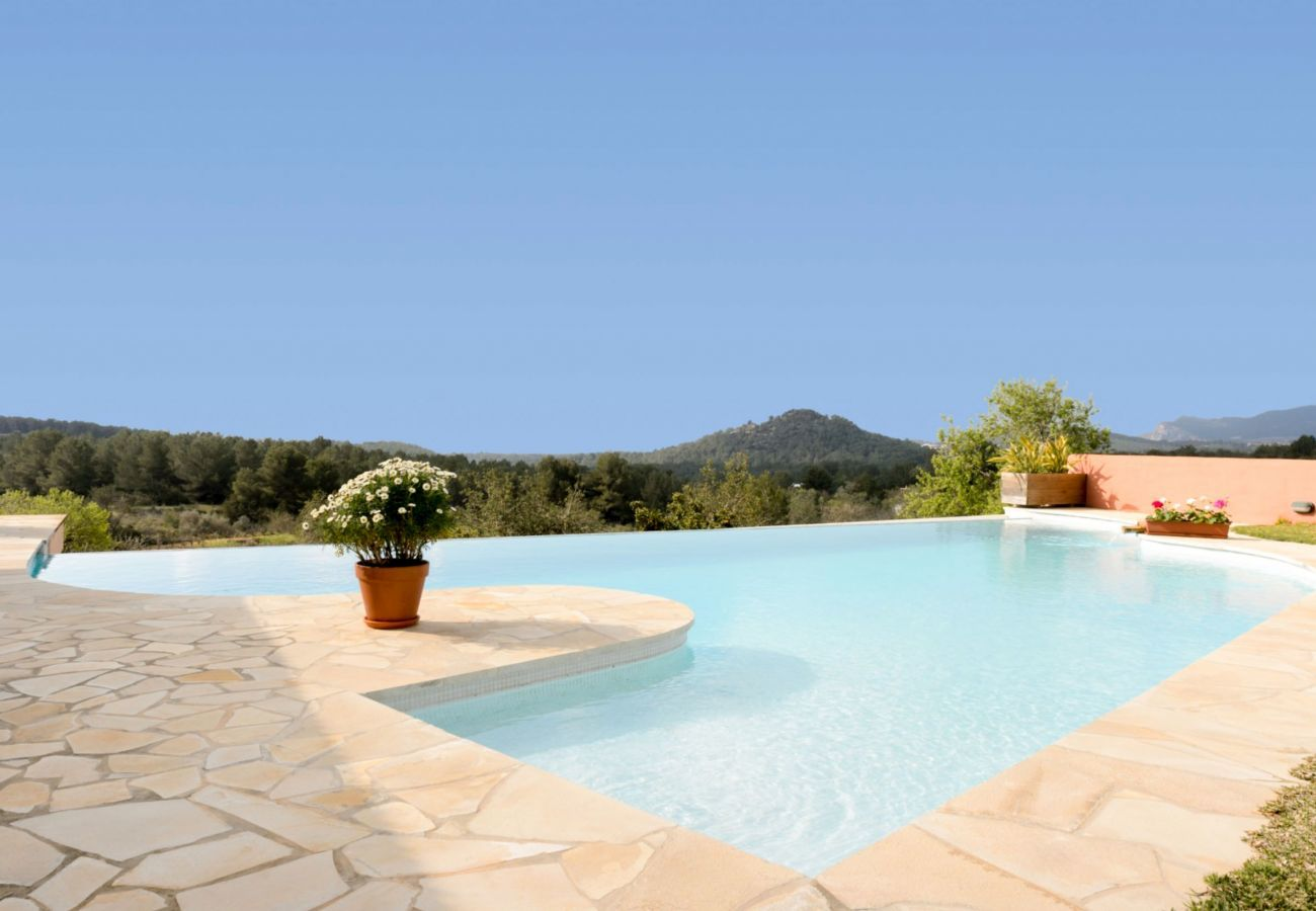 Views from the private swimming pool of Villa Verdera in Ibiza