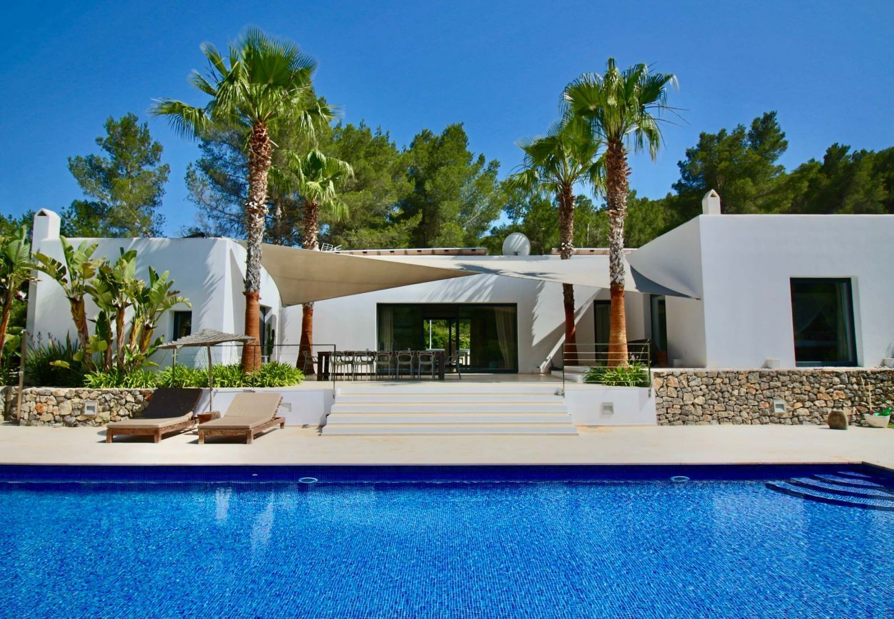 View of the tourist accommodation Can Moon in San José, Ibiza